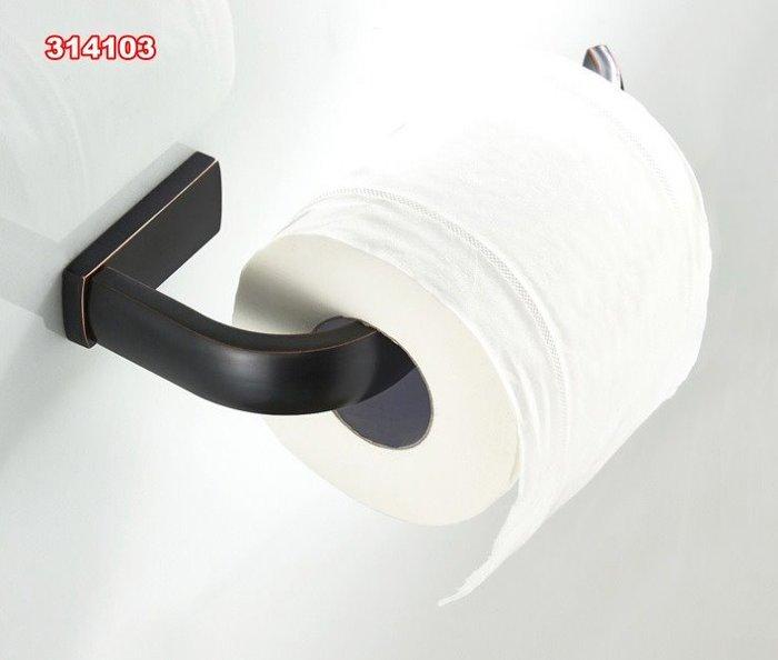全銅黑仿古 捲紙架 廁紙架 紙巾架 103