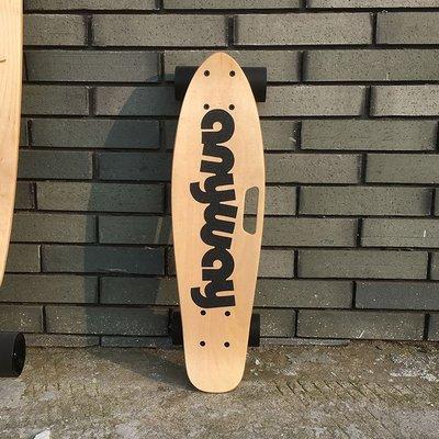 輪滑 滑板及配件 兒童成人刷街皮皮滑板anyway神行者專業楓木手提小魚板香蕉板初學者酷