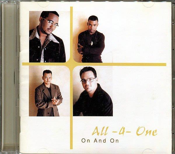 【黑妹音樂盒】All-4-One----On And on----(二手CD)