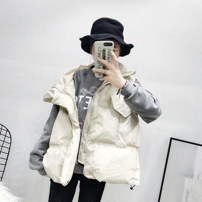 【蘑菇小隊】羽絨馬甲羽絨棉馬甲女短款2019秋冬季新款韓版洋氣寬鬆抽繩加厚麵包服外套-MG77757