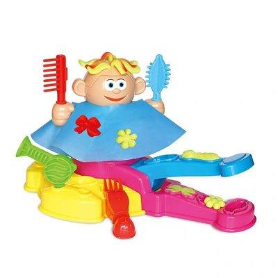 網紅創意兒童理髮師彩泥玩具小小髮型師女孩過家家橡皮泥黏土模具