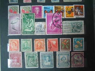 紐西蘭郵票~23張合售~英女王肖像