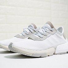 D-BOX  adidas Originals POD-S3.1 Boost 輕跑 老爹鞋 慢跑鞋 全白