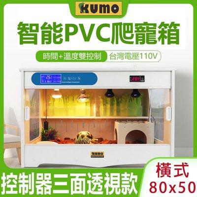 免運酷魔箱 控制器三面透視款【爬蟲箱 橫式80x50cm】PVC爬寵箱 寵物箱飼養箱爬箱KUMO BOX可參考【盛豐堂】
