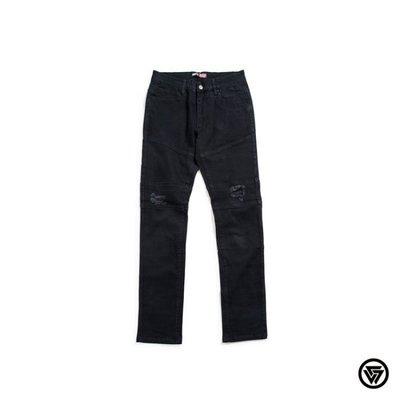 (MARVELOUS)SQUAD 2015 S/S Washed Damage Jeans軍階水洗破壞牛仔褲 黑色
