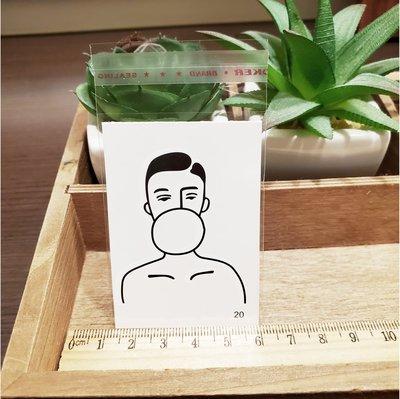 【萌古屋】百態人20單圖 - 男女防水紋身貼紙刺青貼紙 K43