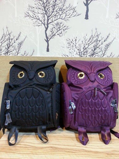 經典貓頭鷹後背包(M),共四色,實品拍攝有店面,香港Morn Creations🌟最特別的禮物都在奧爾思🌟