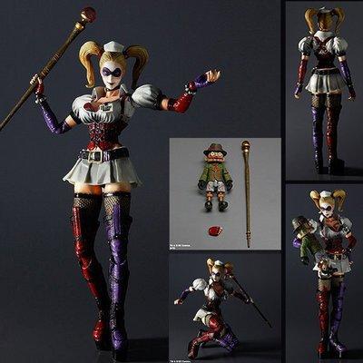 PLAY ARTS 改 阿卡漢療養院 BATMAN 裝甲版 蝙蝠俠 + 小丑女合售