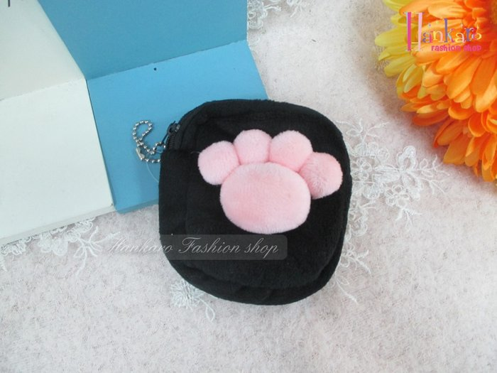 ☆[Hankaro]☆可愛造型貓腳印零錢包(樣品出清)