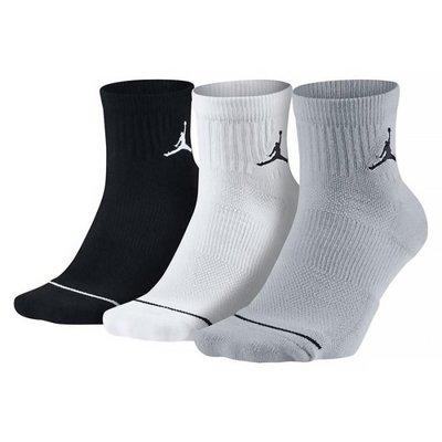 [飛董] NIKE JORDAN EVERYDAY 藍球襪 短襪 SX5544 017 黑 白 灰 三雙一組