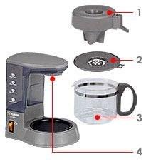 EC TBF40象印4杯咖啡機配件 玻璃壺(不含杯蓋)