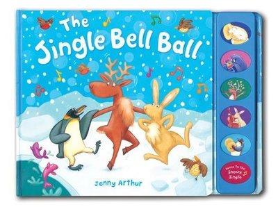 *小P書樂園* THE JINGLE BELL BALL /硬頁書+按鈕