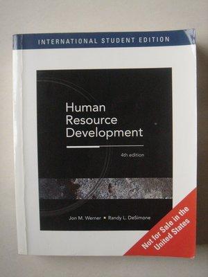 【當代二手書坊】Thomson出版~Human Resoure Development(4版)(原文書)~二手價180元