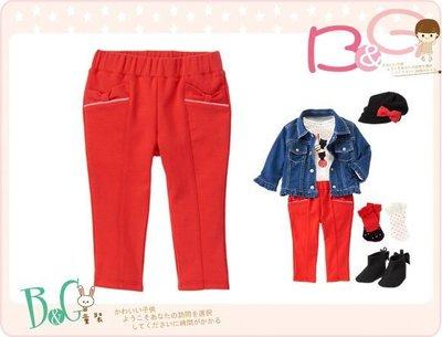 【B& G童裝】正品美國進口GYMBOREE Pull-On Bow 蝴蝶結圖樣紅色長褲12-18-24mos