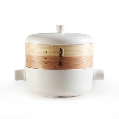蒸籠 日式多功能蒸汽鍋蒸籠砂鍋湯鍋神器蒸鍋竹制蒸屜多層陶瓷家用小型