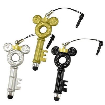 尼德斯Nydus~* 日本正版 迪士尼 Disney 米奇 精典鑰匙造型 耳機塞 防塵塞 吊飾 觸控筆 -6cm