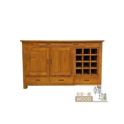 [韓珈柚木wood] 柚木餐櫃 五尺餐櫃 柚木酒櫃 裝飾櫃 置物櫃 印尼柚木實木