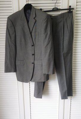 DURBAN Super100 灰色單排三釦西裝  已無圖中長褲