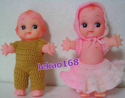 日本早時期的露肚肚的Q比娃娃 2 個入[ 新到貨 ]