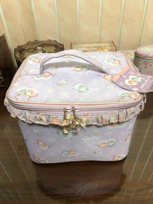 全新 正版 雙子星 kikilala  little twin stars 超夢幻 超可愛 紫色 雪人  化妝箱 可議價