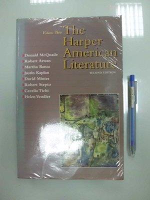 6980銤:B3-3de☆1993『The Harper American Literature 2/e Vol.2』