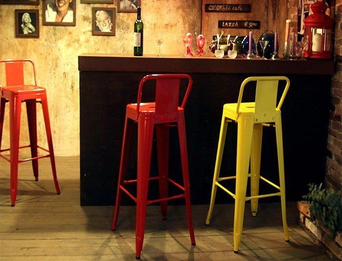 【南洋風休閒傢俱】設計單椅系列 - 美式復古鐵藝烤漆椅 低背曼尼鐵吧椅 餐椅 休閒椅 設計師椅 514-1