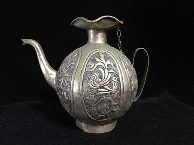 早期收藏-手工藏銀製品-錫合銀擺件觀賞...