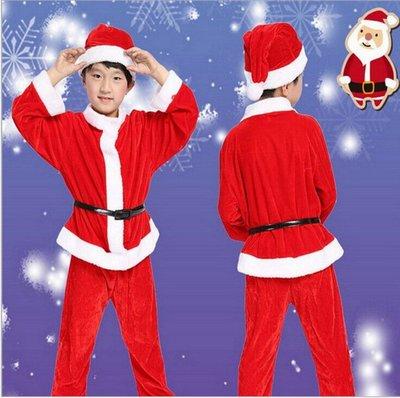 歐美聖誕節兒童服裝男女童聖誕老人演出衣服飾聖誕節表演服批發-(391)
