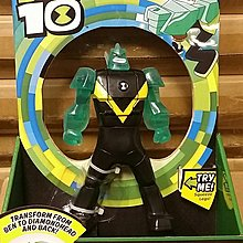 Transformering Ben 10 to Diamindhead 7 Inch Figure