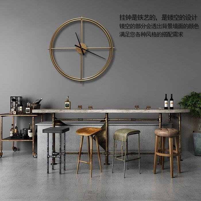 工業風簡約金色大掛鐘客廳時尚藝術時鐘咖啡館服裝店牆面裝飾壁掛