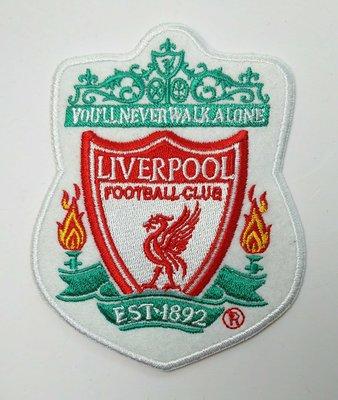 世界杯YYDS~英超利物浦隊徽Liverpool足球刺繡補丁貼繡花布貼背膠LOGO臂章