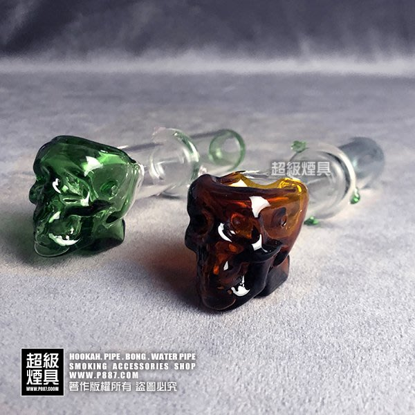 【P887 超級煙具】專業煙具 造型玻璃煙斗系列 骷髏玻璃煙斗(310232)