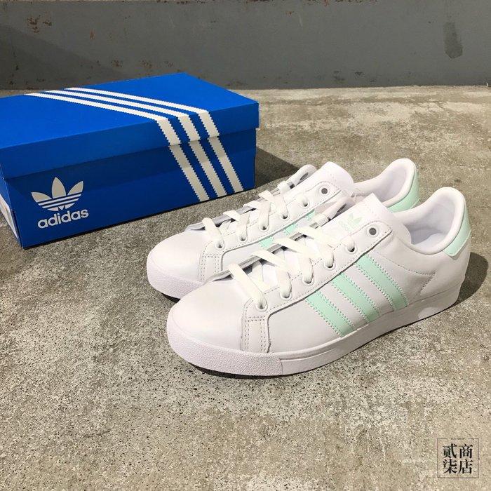 (貳柒商店) adidas Originals Coast Star 女款 白色 蘋果綠 休閒鞋 基本款 EE8911
