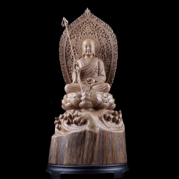 【睿智精品】木雕佛像 南無地藏王菩薩 地藏菩薩 法像莊嚴 沉香木(GA-4797)