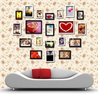 INPHIC-浮圖心形相框牆照片牆相片牆創意家居組合相框送柯達照片