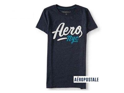 美國正品Aeropostale[Aero] 美式休閒短袖T / 藍 ~S (編號:3656 )