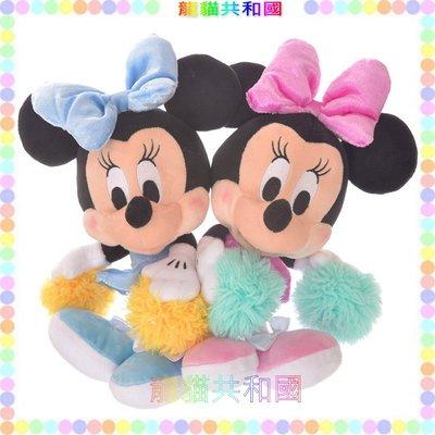 ※龍貓共和國※日本迪士尼商店DISNEY《米奇米妮 歡樂啦啦隊 雙胞胎_米莉 美樂娣 娃娃 玩偶 布偶27公分》生日禮物