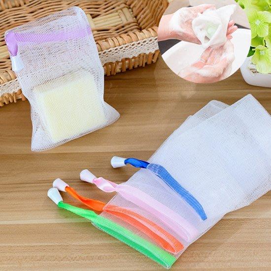 Color_me【Y066-2】肥皂 起泡網 起泡袋 香皂袋 束口袋 打泡網 潔面 網袋 手工皂 肥皂袋 香皂 打皂網