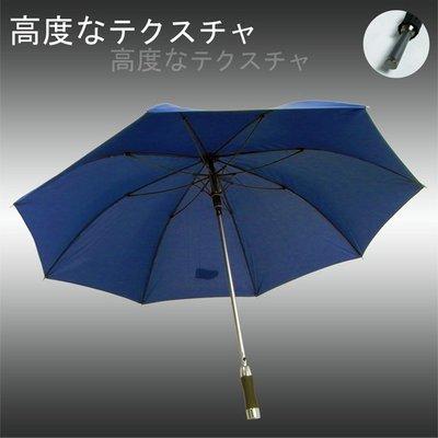 【大型&輕量】質男_Mettle - 撥水直立傘/長傘(藍) /雨傘自動傘防風傘大傘抗UV傘潑水傘陽傘洋傘直傘 (免運)