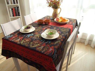 【RS雜貨舗】[140x140cm]桌巾桌布餐墊長巾桌墊隔熱墊桌布裝飾布窗台布桌布桌巾[泰式圖滕]