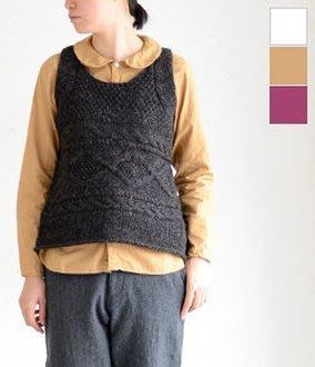 現貨 日本質感品牌 DMG Brocante 小圓領 復古 長袖襯衫 日本製