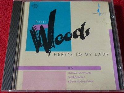 ⊙爵士⊙Phil Wood:Here's to My Lady/Chesky/發燒錄音/美國JVC首版/無ifpi