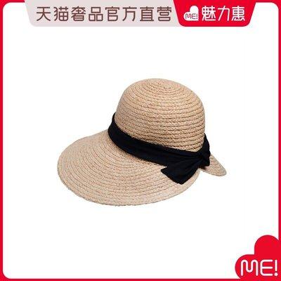 【季末清倉】Lingo Codes麥色拉菲草配黑色蝴蝶結盆帽正韓