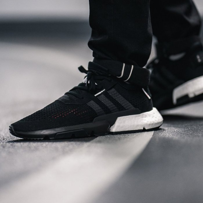 XinmOOn ADIDAS POD-S3.1 DB3378 BLACK WHITE 經典 休閒 慢跑鞋 襪套 黑白 男