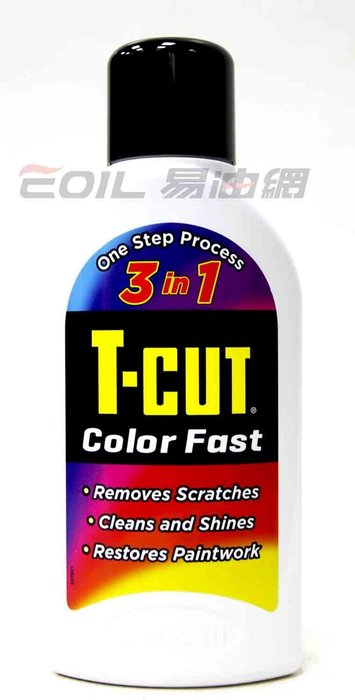 【易油網】T-CUT Color Fast CarPlan 3合1刮痕快速修復蠟(白色車)CMW001