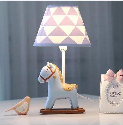 小馬可調光LED臺燈臥室床頭燈 暖光溫馨創意兒童房 可愛生日禮物小號(不含燈源)