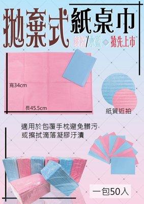 *米蘿凝膠足蹉水晶指甲彩繪美甲批發--拋棄式紙桌巾 (共兩色)