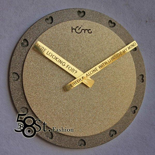 【58街】創意設計師款式「-幸福-粉末冶金超靜音掛鍾」金屬特殊鍾。AB-132