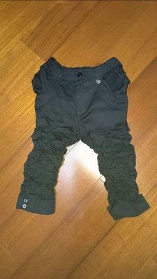 金安德森女童黑色造型七分褲
