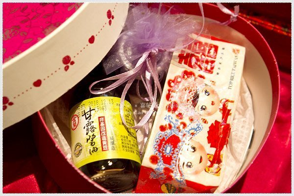 幸福朵朵✿【心囍.金蘭醬油+囍米+果醬禮盒(附贈天使玫瑰手提袋)】-婚禮小物/喝茶禮/奉茶禮/姊妹伴手禮